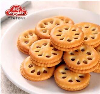 万士发果酱夹心饼干糕点680g零食大礼包批发整箱精美食品礼盒小吃