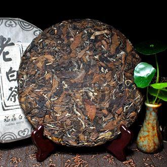 买一送一药香2008年白茶饼 陈年老寿眉饼 老白茶福鼎老寿眉煮枣香