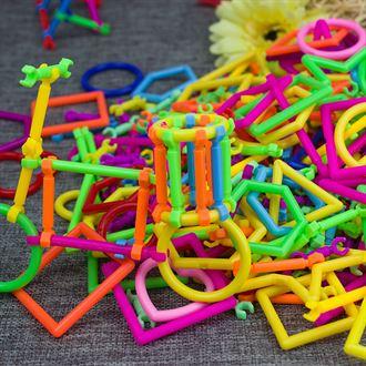 儿童聪明棒积木 塑料拼插拼装益智玩具 幼儿园拼搭拼接玩具幼儿园