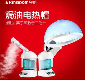 金稻蒸脸器焗油机家用臭氧电加热焗油帽离子蒸发帽蒸脸机二合一