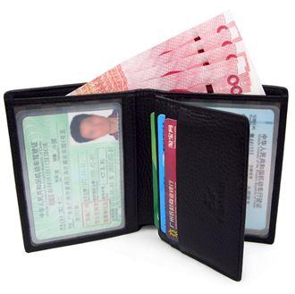 驾照钱夹 真皮超薄小 男士短款一体卡包驾驶证钱包多功能包皮夹子